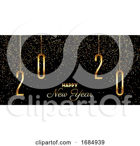 Happy New Year Confetti Background by KJ Pargeter