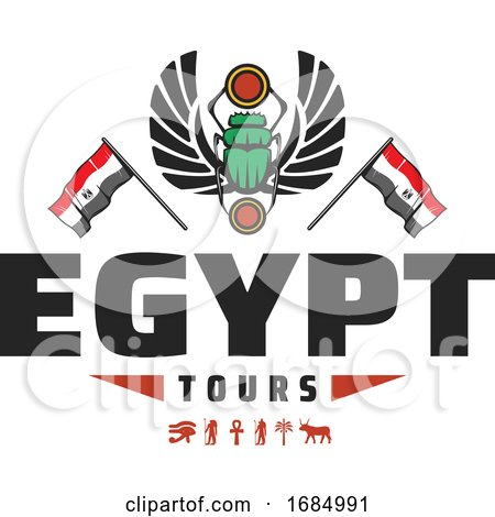 Egyptian Scarab Beetle by Vector Tradition SM
