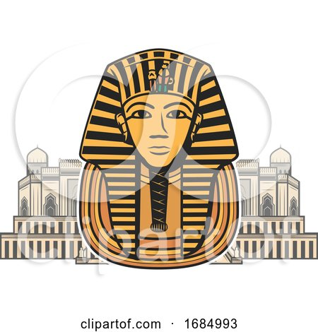 Egyptian Pharaoh Mask by Vector Tradition SM