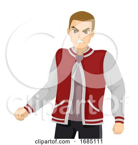 Teen Boy Aggressive Illustration by BNP Design Studio