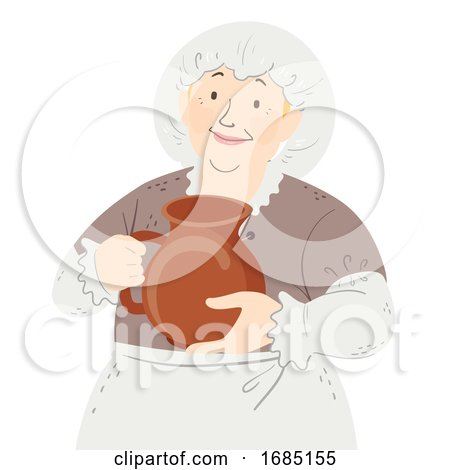 Woman Lady Servant Medieval Illustration by BNP Design Studio