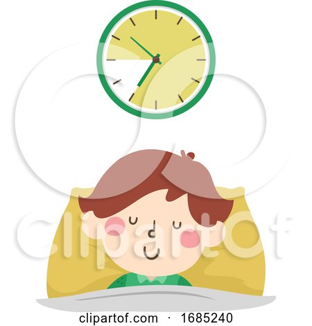 Kid Boy Ten Hours Sleep Time Illustration by BNP Design Studio