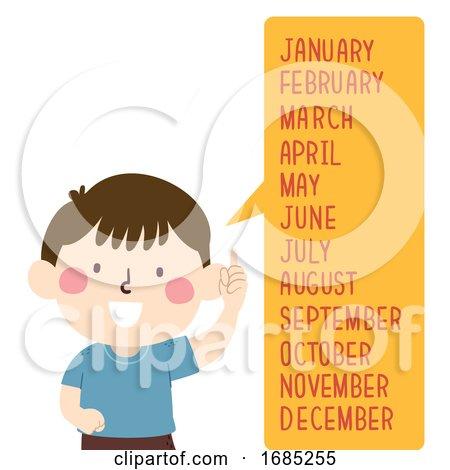Kid Boy Months Speech Bubble Illustration by BNP Design Studio