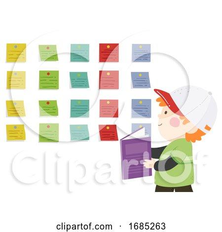 Kid Boy Sticky Labels Illustration by BNP Design Studio