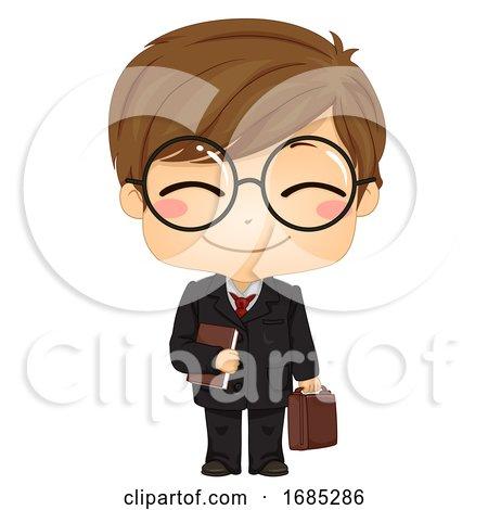 Kid Boy Lawyer Illustration by BNP Design Studio