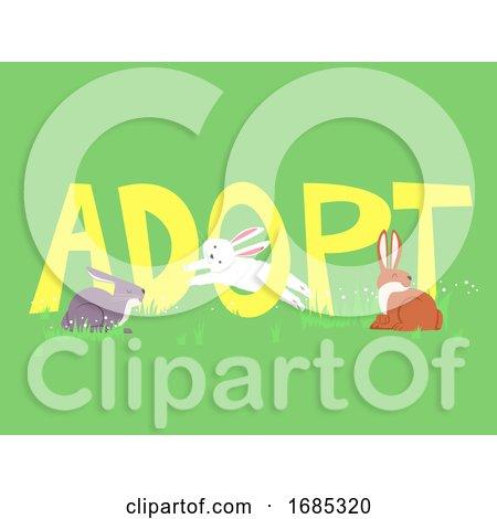 Adopt Rabbit Lettering Illustration by BNP Design Studio