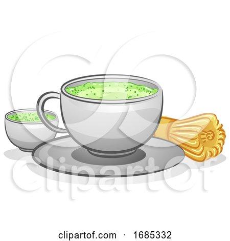 Matcha Tea Illustration Posters, Art Prints