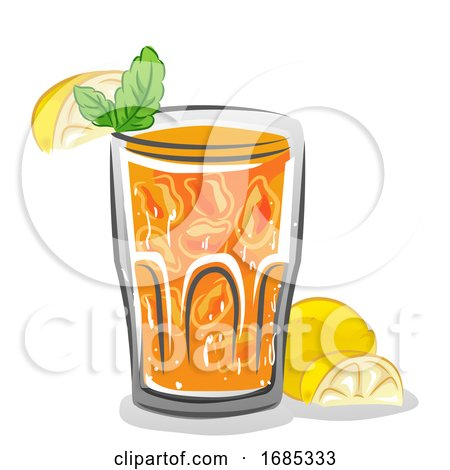 Iced Lemon Mint Illustration by BNP Design Studio