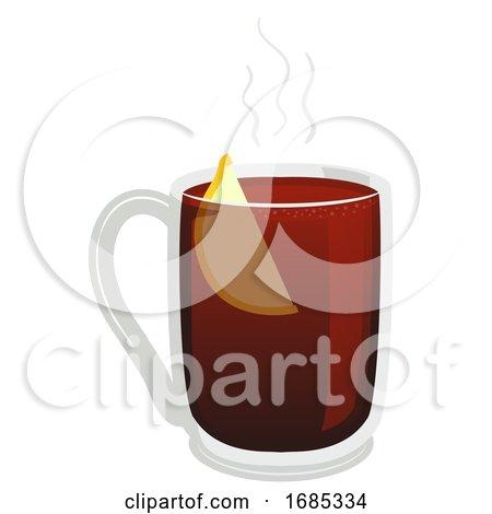 Gluhwein Hot Wine Illustration by BNP Design Studio