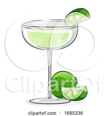 Gimlet Cocktail Illustration by BNP Design Studio