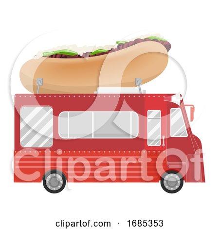 Philly Cheese Steak Sandwich Food Truck by BNP Design Studio
