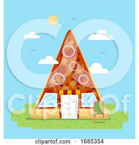 Pizza Slice Store Illustration by BNP Design Studio