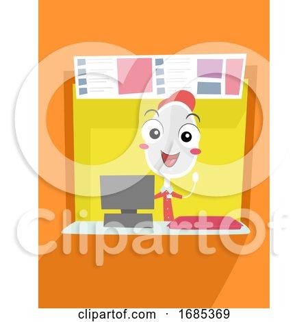 Mascot Spoon Food Park Counter Illustration by BNP Design Studio