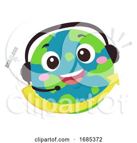Mascot Earth Hotline International Illustration by BNP Design Studio