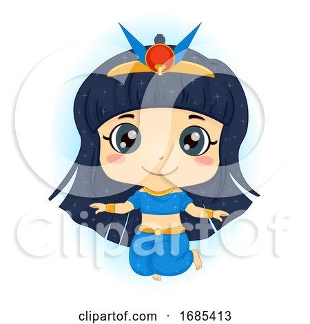 Kid Girl Egyptian Goddess Nut Sky God Illustration by BNP Design Studio