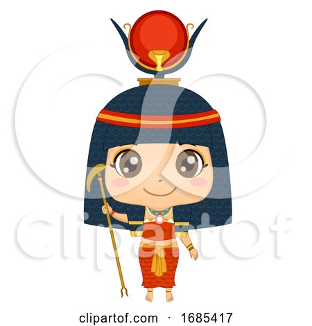 Kid Girl Egyptian God Hathor Illustration by BNP Design Studio