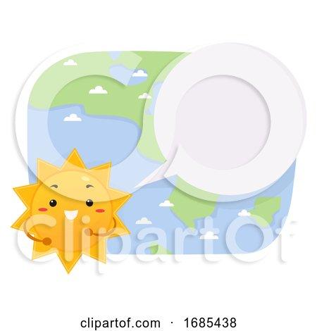 Mascot Sun Reporter Speech Bubble Illustration by BNP Design Studio