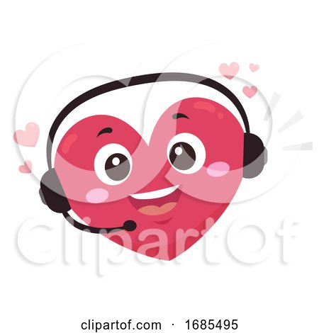 Mascot Heart Hotline Illustration Posters, Art Prints