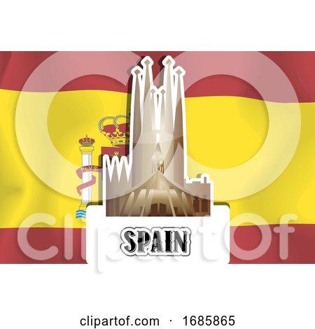Spanish Flag by Morphart Creations