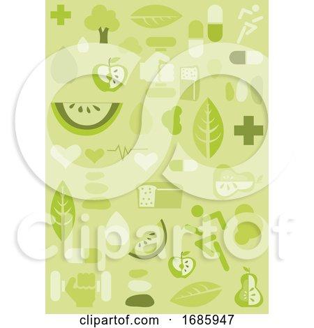 Health Background, Illustration Posters, Art Prints