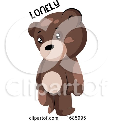 Lonely Brown Teddy Bear by Morphart Creations