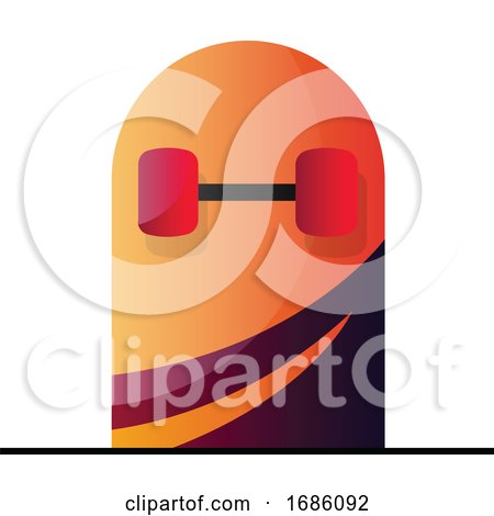 Vector Illustration of a Bottom of a Skateboard on a White Background by Morphart Creations