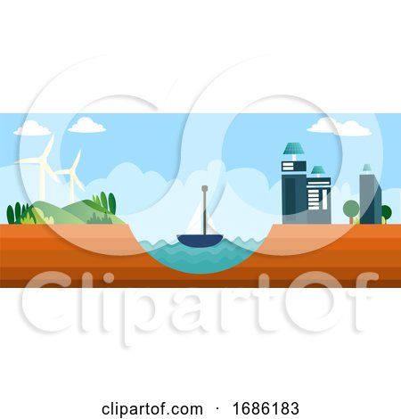 Different Types of Renewable Energy Sources Illustration Vector on White Background by Morphart Creations