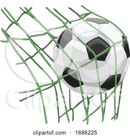 Soccer Ball on Net by Morphart Creations