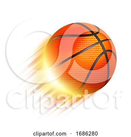 Flaming Basketball by Oligo