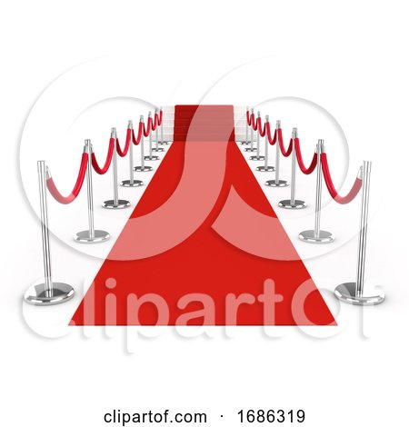 3d Red Carpet and Velvet Ropes by Steve Young