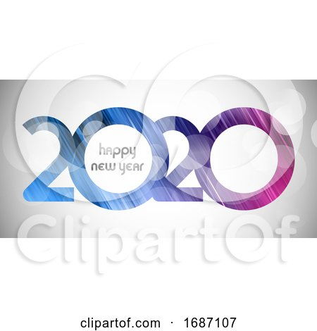 Happy New Year Banner with Cut out Number Design by KJ Pargeter