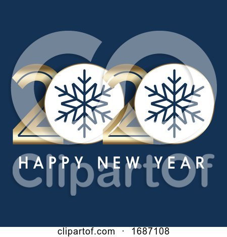 Happy New Year Background with Decorative Numbers by KJ Pargeter