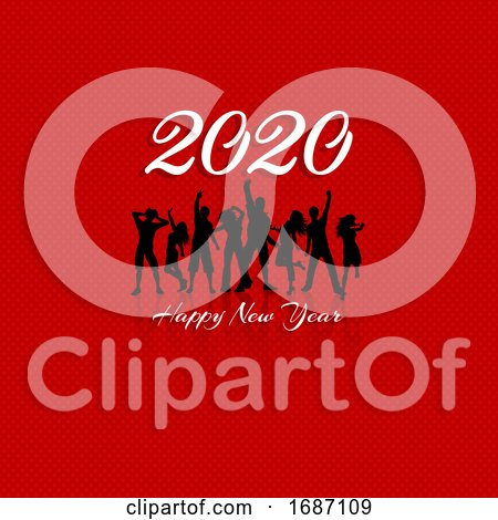 Happy New Year Party Crowd Background by KJ Pargeter