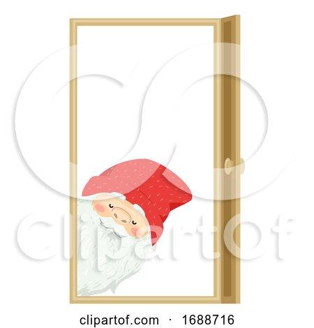 Iceland Yule Lad Door Sniffer Illustration by BNP Design Studio