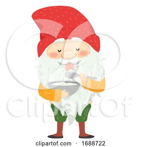 Iceland Yule Lad Skyr Yogurt Gobbler Illustration by BNP Design Studio