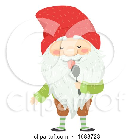Iceland Yule Lad Spoon Licker Illustration by BNP Design Studio