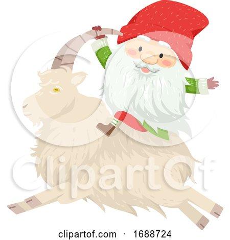 Iceland Yule Lad Sheep Cote Clod Illustration by BNP Design Studio