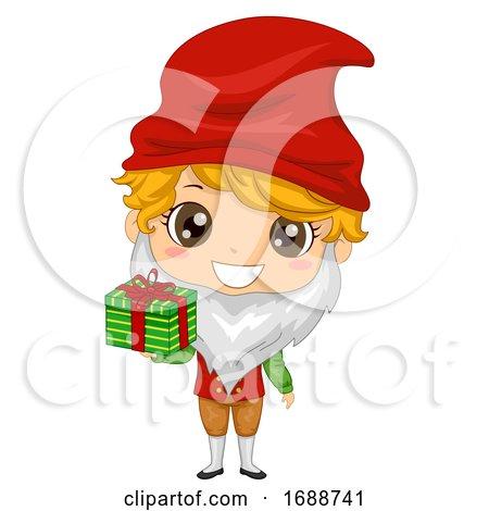 Kid Boy Iceland Yule Lad Gift Illustration by BNP Design Studio