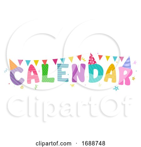 Calendar Celebration Lettering Bunting by BNP Design Studio