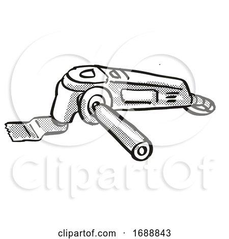 Multi Function Tool Power Tool Equipment Cartoon Retro Drawing Posters, Art Prints