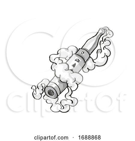 Vape Electronic Cigarette Smoking Tattoo by patrimonio