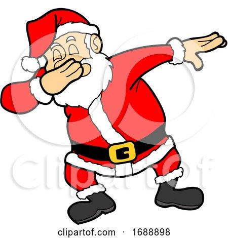 Cartoon Christmas Santa Dabbing by LaffToon