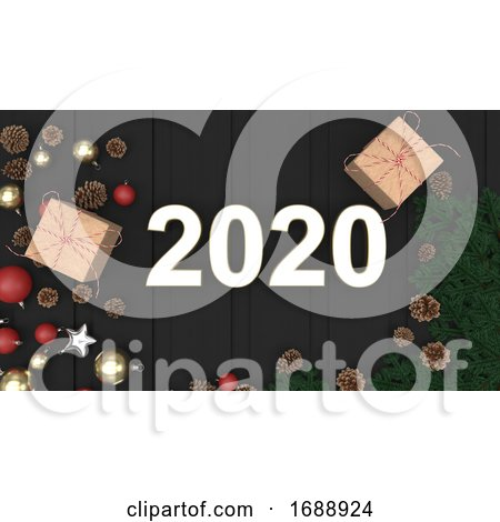 2020 Happy New Year Background by KJ Pargeter