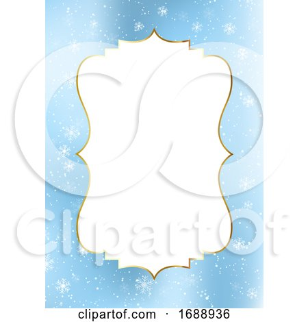 Snowflake Christmas Menu Border or Frame by KJ Pargeter