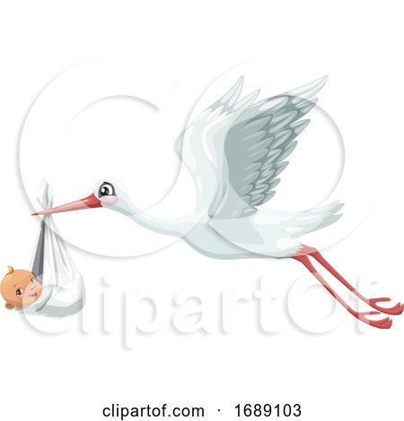 Stork and Baby by Vector Tradition SM