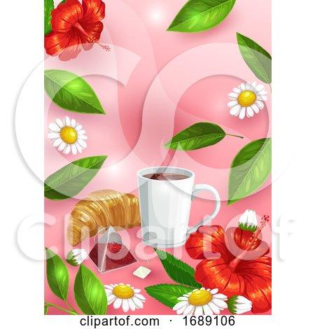 Tea Background Posters, Art Prints