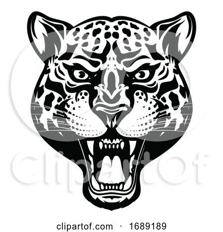 Angry Leopard by Vector Tradition SM