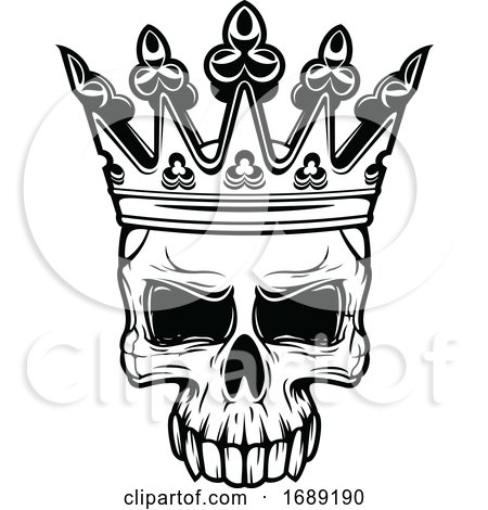 Crowned Skull by Vector Tradition SM