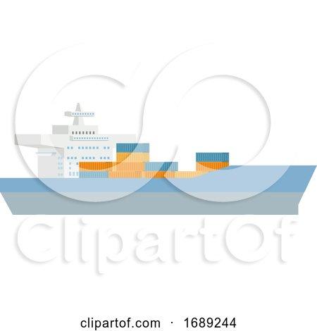 Logistics Cargo Container Ship Concept by AtStockIllustration