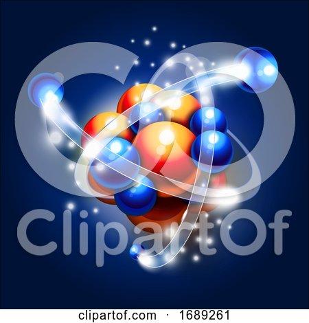 Molecule Atoms and Particles Illustration by Oligo